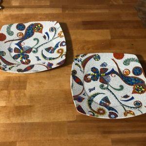 Gaudi porcelain plate set of 2